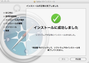 Safari 4 Install Success